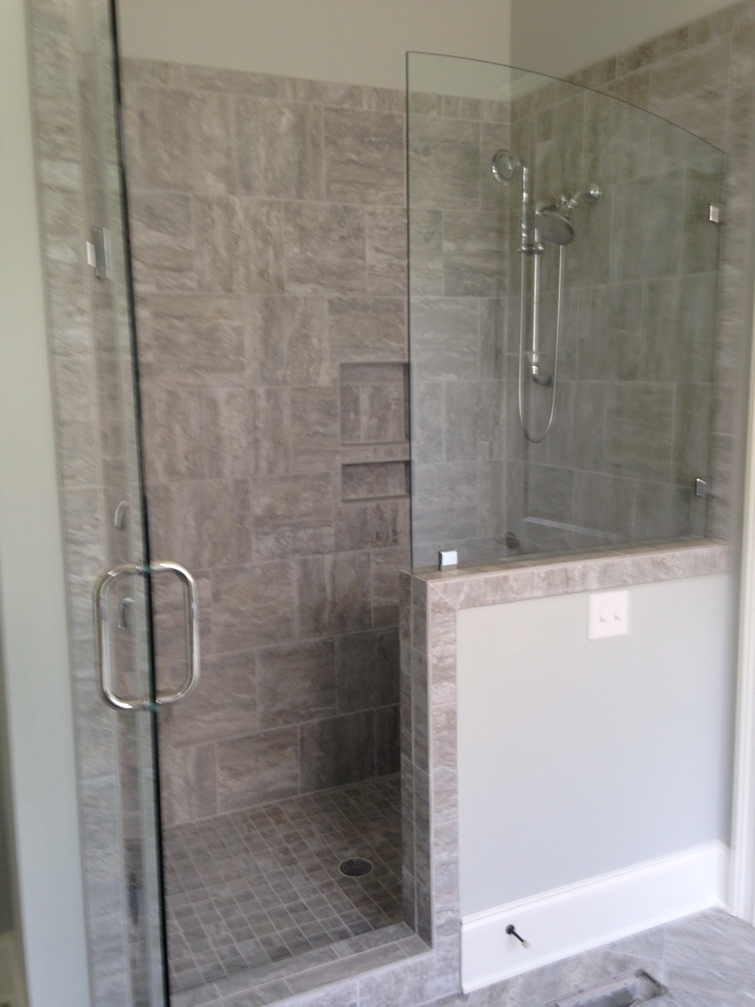 vertical install youtube running tile showers watch bond shower